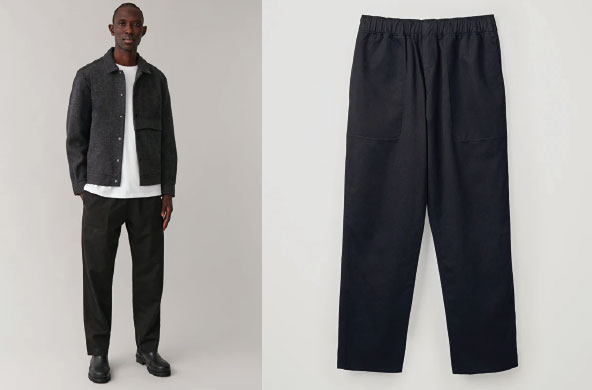 Cotton-Linen Elasticated Trousers by Cos