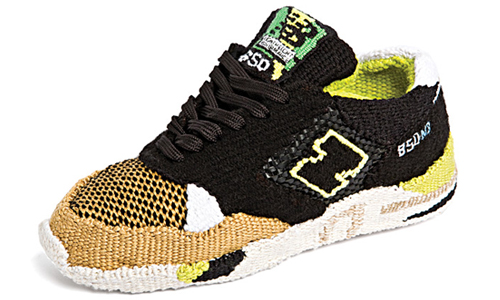New Balance 850 Black Tan Running Tapestry Side Sneakers