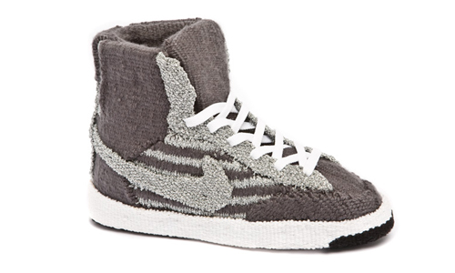 Nike Blazer High Grey Woven Tapestry Side Sneakers