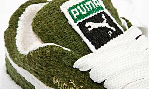 Puma Suede Clyde Lo Green Tapestry Detail Sneakers