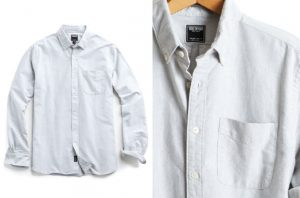 Better Button Up: L/S Grey